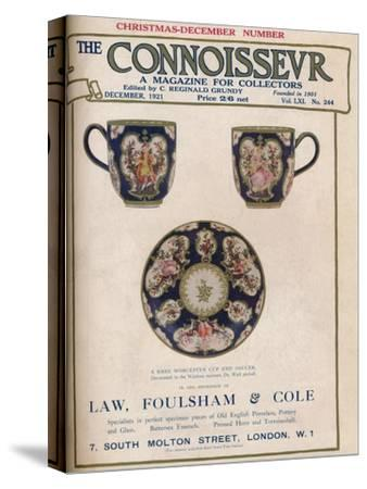 Cover of The Connoisseur, December 1921-Unknown-Stretched Canvas Print