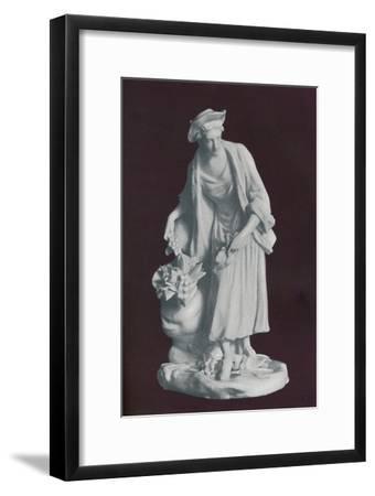 White Chelsea Porcelain gardener's companion figure, c1770-Unknown-Framed Giclee Print