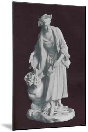 White Chelsea Porcelain gardener's companion figure, c1770-Unknown-Mounted Giclee Print