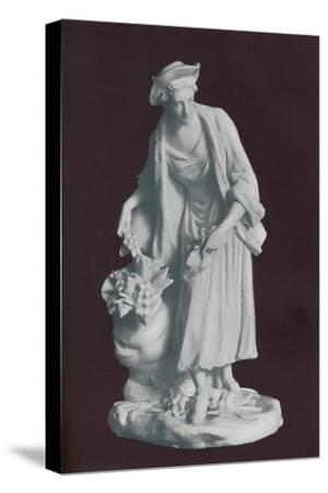 White Chelsea Porcelain gardener's companion figure, c1770-Unknown-Stretched Canvas Print