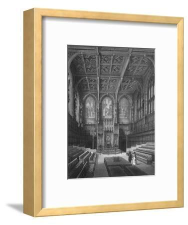 Interior of the House of Lords, Palace of Westminster, London c1878 (1878)-Unknown-Framed Giclee Print