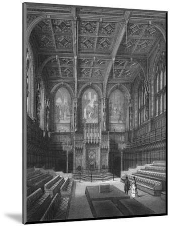 Interior of the House of Lords, Palace of Westminster, London c1878 (1878)-Unknown-Mounted Giclee Print