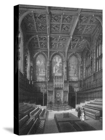 Interior of the House of Lords, Palace of Westminster, London c1878 (1878)-Unknown-Stretched Canvas Print