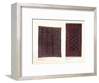 Saryk Turkoman rug, early 18th century and Salor Turkoman rug, 18th century-Unknown-Framed Giclee Print