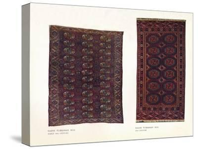 Saryk Turkoman rug, early 18th century and Salor Turkoman rug, 18th century-Unknown-Stretched Canvas Print