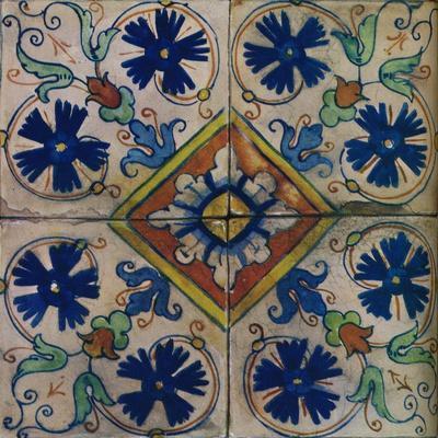 Ornamental Dutch tiles, Italian influence, c1600-Unknown-Framed Giclee Print