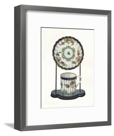 Worcester cup and saucer, c1770-Unknown-Framed Giclee Print