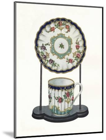 Worcester cup and saucer, c1770-Unknown-Mounted Giclee Print