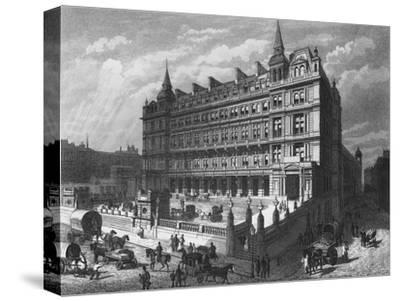 Cannon Street Railway Station, City of London, c1870 (1878)-Unknown-Stretched Canvas Print