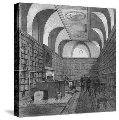 The King's Library, Buckingham House, Westminster, London, 1775 (1878)-Unknown-Stretched Canvas Print