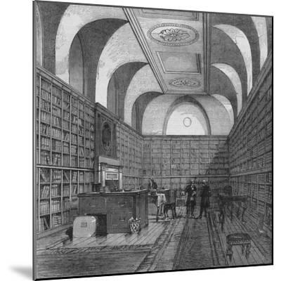 The King's Library, Buckingham House, Westminster, London, 1775 (1878)-Unknown-Mounted Giclee Print