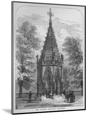 The Buxton Drinking Fountain, Westminster, London, c1870 (1878)-Unknown-Mounted Giclee Print