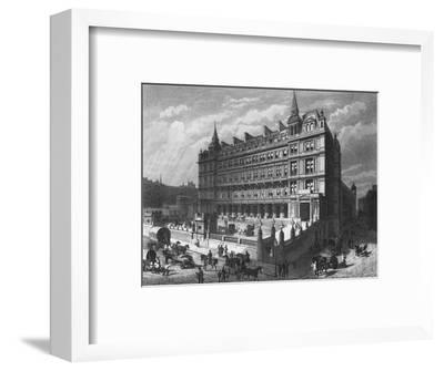 Cannon Street Railway Station, City of London, c1870 (1878)-Unknown-Framed Giclee Print