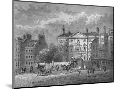 Cambridge House, Westminster, London, c1854 (1878)-Unknown-Mounted Giclee Print