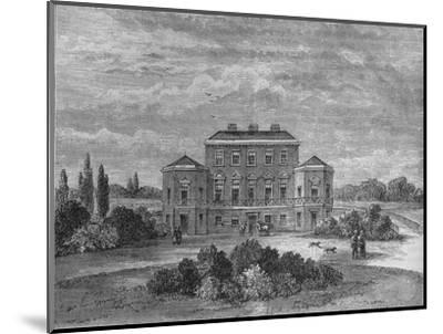 Foley House, Marylebone, Westminster, London, c1800 (1878)-Unknown-Mounted Giclee Print