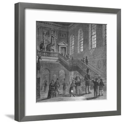 Grand staircase of Montagu House, Bloomsbury, London, c1830 (1878)-Unknown-Framed Giclee Print