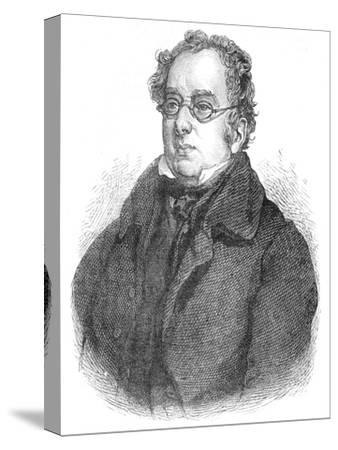 Isaac D'Israeli, British writer and scholar, c1840 (1878)-Unknown-Stretched Canvas Print
