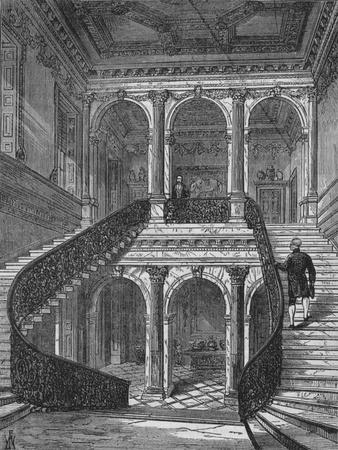The grand staircase, Chesterfield House, Mayfair, Westminster, London, c1875 (1878)-Unknown-Framed Giclee Print