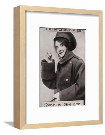 'The Military Miss - Come an' 'ave one.', c1914-Unknown-Framed Photographic Print