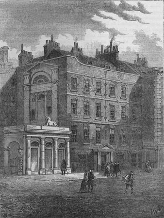 Messrs Christie and Manson's original auction rooms, Westminster, London, c1860 (1878)-Unknown-Framed Giclee Print