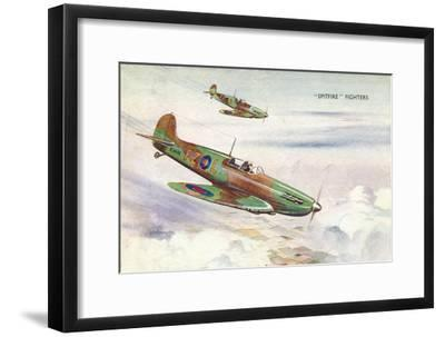 'Spitfire Fighters', c1940-Unknown-Framed Giclee Print