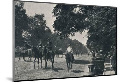 'Rotten Row, Hyde Park', c1900-Unknown-Mounted Photographic Print