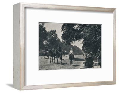 'Rotten Row, Hyde Park', c1900-Unknown-Framed Photographic Print