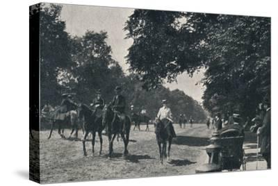 'Rotten Row, Hyde Park', c1900-Unknown-Stretched Canvas Print