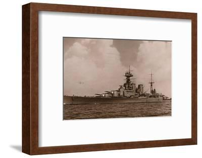 'H.M.S. Hood', 1935-Unknown-Framed Photographic Print