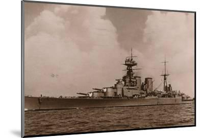 'H.M.S. Hood', 1935-Unknown-Mounted Photographic Print