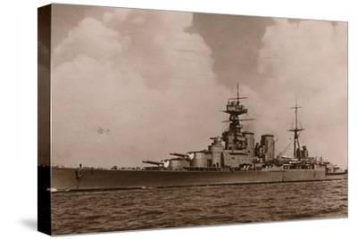 'H.M.S. Hood', 1935-Unknown-Stretched Canvas Print