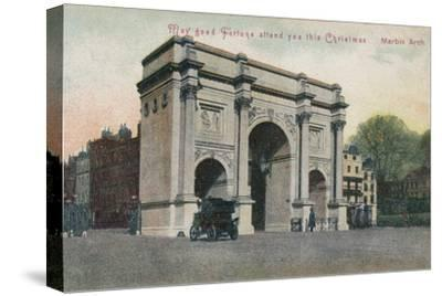 'May good fortune attend you this Christmas - Marble Arch', c1910-Unknown-Stretched Canvas Print