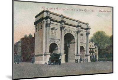 'May good fortune attend you this Christmas - Marble Arch', c1910-Unknown-Mounted Photographic Print