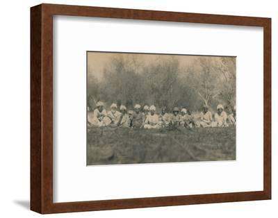'Lt. Smith & Beaters - Budhapur Tigerhunt', 1922-Unknown-Framed Photographic Print