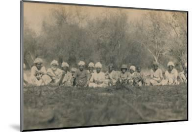 'Lt. Smith & Beaters - Budhapur Tigerhunt', 1922-Unknown-Mounted Photographic Print