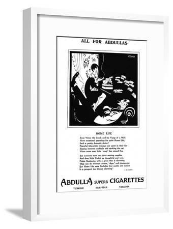 'All for Abdullas - Home Life', 1927-Unknown-Framed Giclee Print