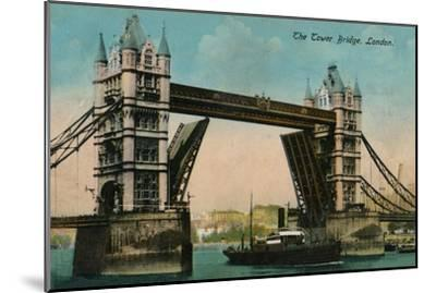 'The Tower Bridge', 1915, (c1900-1930)-Unknown-Mounted Giclee Print