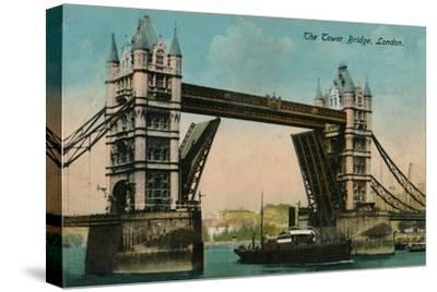 'The Tower Bridge', 1915, (c1900-1930)-Unknown-Stretched Canvas Print