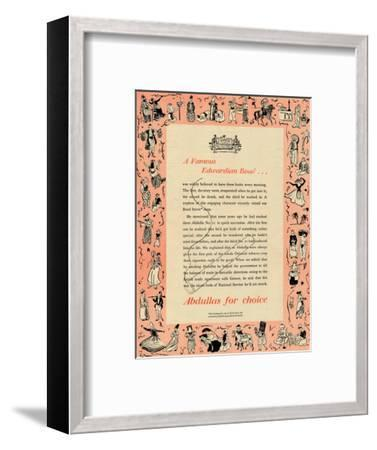 'A Famous Edwardian Roue Abdullas for choice, 1939-Unknown-Framed Giclee Print