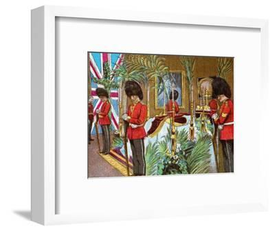 'Queen Victoria Lying in State at Osborne House', 1901 (c1902)-Unknown-Framed Giclee Print