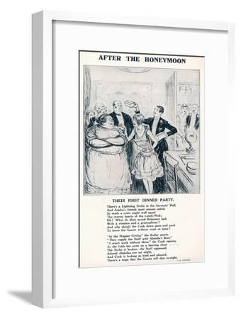 'After the Honeymoon - Their first dinner party', 1927-Unknown-Framed Giclee Print