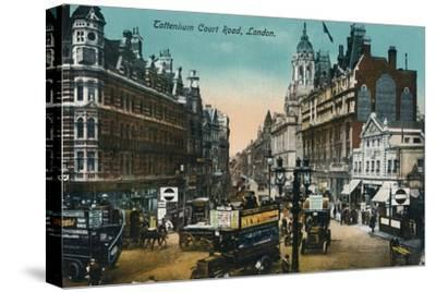 'Tottenham Court Road, London', 1915, (c1900-1930)-Unknown-Stretched Canvas Print