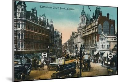 'Tottenham Court Road, London', 1915, (c1900-1930)-Unknown-Mounted Giclee Print