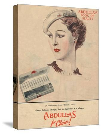 'Abdulla's Book for Beauty - Abdullas for choice', 1941-Unknown-Stretched Canvas Print