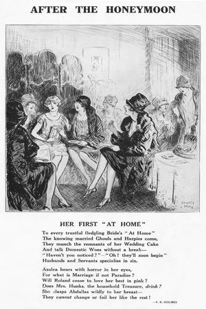 After the Honeymoon - ''Her First At Home', 1927-Unknown-Framed Giclee Print