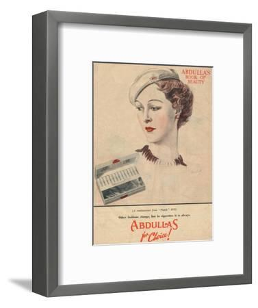'Abdulla's Book for Beauty - Abdullas for choice', 1941-Unknown-Framed Giclee Print