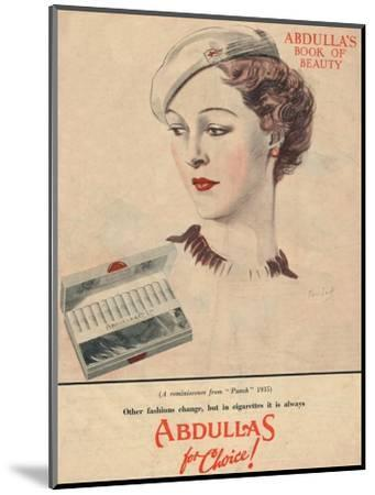 'Abdulla's Book for Beauty - Abdullas for choice', 1941-Unknown-Mounted Giclee Print