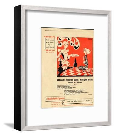 'Abdulla's Theatre Guide: Midnight Drama - Forgive Me - Darling', 1939-Unknown-Framed Giclee Print