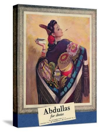 'Abdullas for choice', c1945-Unknown-Stretched Canvas Print