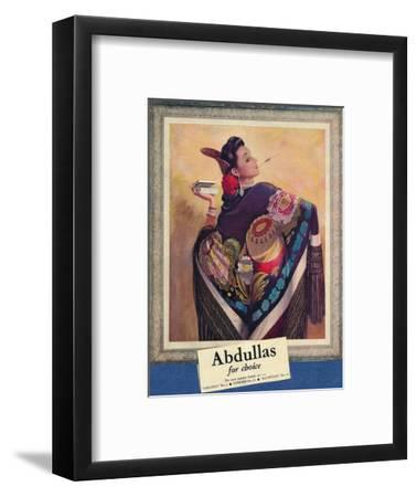 'Abdullas for choice', c1945-Unknown-Framed Giclee Print